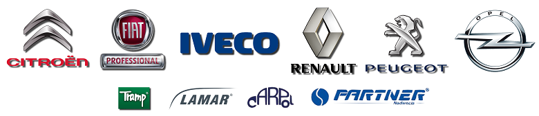 Citroen, Fiat Professional, Iveco, Renault, Peugeot, Tramp, Lamar, Carpol, Partner Nadwozia